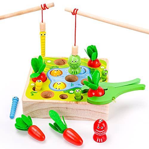 Regalos Niña Niño 3 2 4 Años, Juguete Montessori 1 2 3 4 Niños Niñas Bebe Juguetes de Aprendizaje 18 24 36 Mes Niño Niña Regalo de Cumpleaño 2-4 Año Puzzle Juego Educativos Bebe Niños Juguete de Pesca