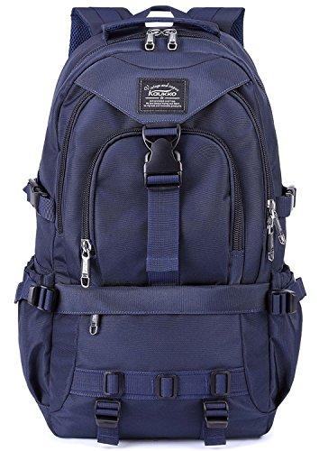 KAUKKO Multifunktionale Wandern Reise Rucksack Laptop Schulranzen Rucksäcke (up to 15.6 inches)-Blau