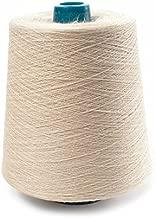 Linen Yarn Cone - 100% Flax Linen - 1 LBS - Cream White Yarn - 3 PLY - Sewing Weaving Crochet Embroidering - 3.000 Yard