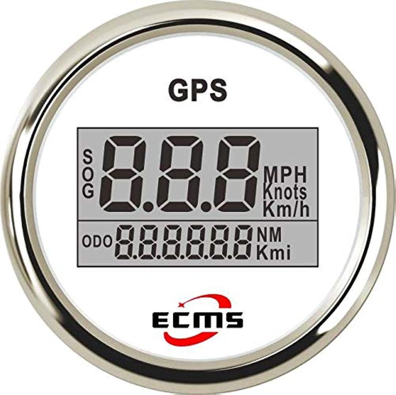 Marine Boat Yacht Auto Car Truck GPS Digital Speedometer Odometer Gauge MPH KMH Knots 52mm 932V 0999 316L Bezel