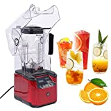 Countertop Blender Juicer Machines Smoothie Cereals Juice Extractor Mixer 2200W Heavy-duty Commercial Blender Smart Touch Screen Sound-proof Safety Cover Fruit Vegetables Salsa Sauce Shakes Baby Food