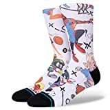 Stance Calcetines unisex Space Jam 'Tune Conversational', color blanco