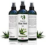 Aloe Vera Gel - 99.75% Organic, 12 oz Great for Face, Hair, Acne,...