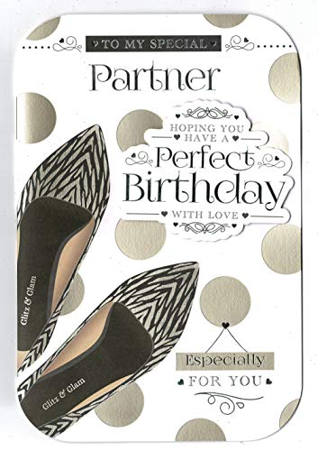 Partner verjaardagskaart 'naar mijn speciale partner in de hoop dat je een perfecte verjaardag hebt'