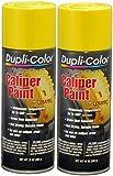 Dupli-Color Caliper Aerosol Paint Yellow 12 Oz. Aerosol - Lot of 6