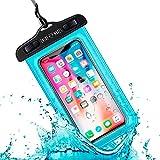 Funda Impermeable Móvil Universal IPX8 con Bolsa Sumergible Agua Estanca Acuática Playa | iPhone 12 XR XS X SE 11 9 8 7 6s Plus Samsung S20 plus A71 Xiaomi Mi 10 Huawei P30 BQ Aquaris (Azul)