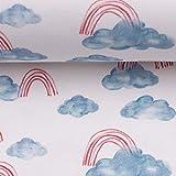 Swafing GmbH Jersey Ocean Breeze Wolken hellblau/rot -