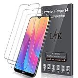 LK [3 Pack] Protector de Pantalla para Xiaomi Redmi 8 / Redmi 8A Cristal Templado,[9H Dureza] [Resistente a Arañazos] Cristal Vidrio Templado Screen Protector Pantalla para Redmi 8A / Redmi 8