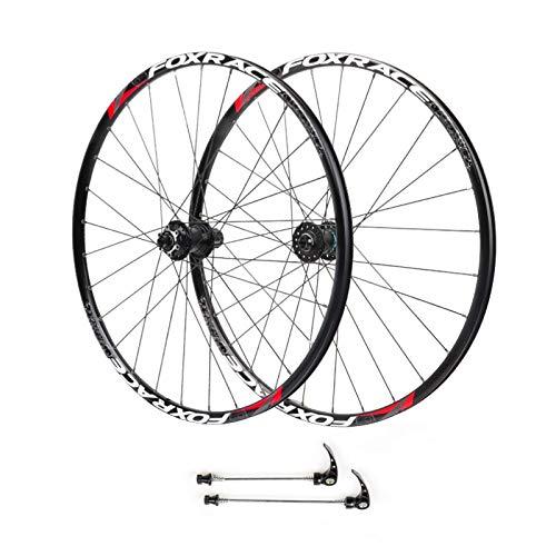 ZPPZYE Ruedas Ciclismo MTB 26/27,5 Pulgadas, Ultraligero Aleación Aluminio Juego Ruedas de Bicicleta Llanta Freno de Disco para 7/8/9/10/11 Velocidad (Color : Black, Size : 26 Inch)