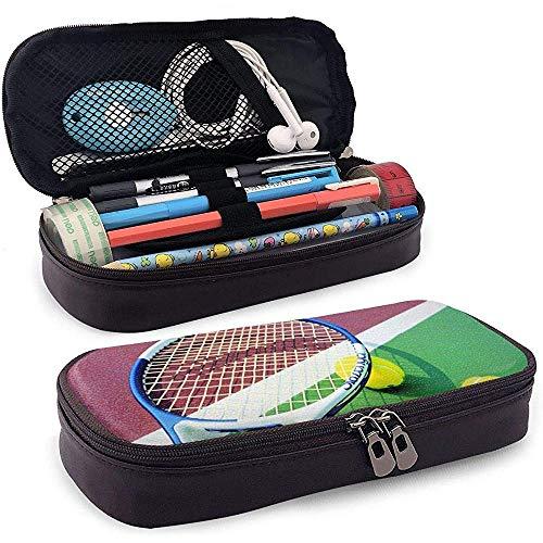 Tennisball Leder Bleistift Etui, Reise Make-up Tasche, Beutelhalter Box
