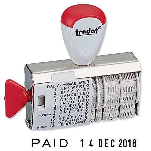 Trodat 51024 - Sello de oficina para fechas, rojo