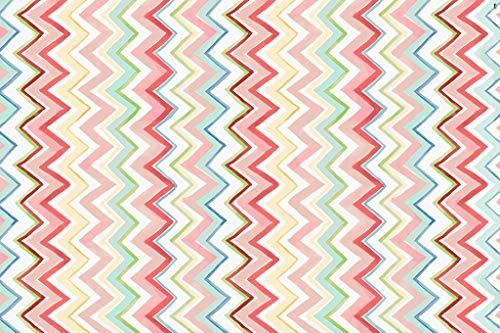 Vilber New Look Zig Zag Alfombra, Vinilo, Multicolor, 153x230x0.2cm