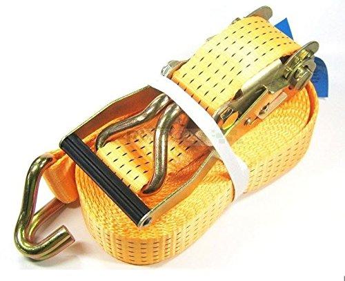1 x 5000 kg spanband 10 m EN 12195-2 ratel sjorriem spanriem ratelspanband tweedelig 5 T
