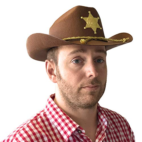 PARTY DISCOUNT NEU Hut Deputy Sheriff, braun, mit Stern