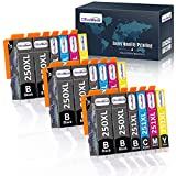 OfficeWorld Compatible 250 251 Ink Cartridge Replacement for Canon 250XL 251XL PGI-250XL CLI-251XL (18 Packs) for use with Canon PIXMA MX922 MG7520 MG5520 MG5420 MG7120 MG6320 Printer