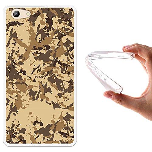 WoowCase Doogee Y300 Hülle, Handyhülle Silikon für [ Doogee Y300 ] Militärische Tarnungsbeige Handytasche Handy Cover Case Schutzhülle Flexible TPU - Transparent