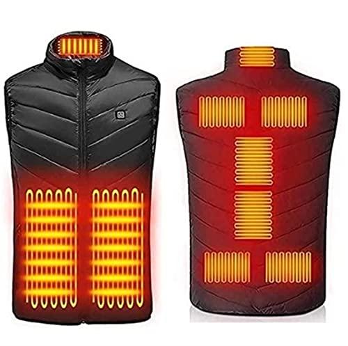 TCTCXQG Beheizte Weste für Männer und Frauen, beheizbare Weste USB-Ladebeheizte Weste Elektrisch beheizte Jacke mit einstellbarer Temperatur für Outdoor-Jagd, Wandern, Camping