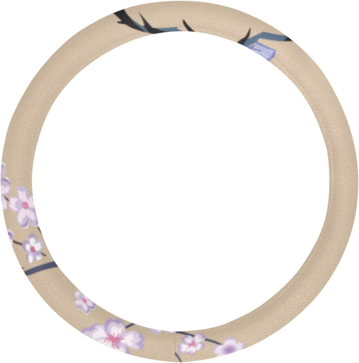 AIKENING Steering Wheel Cover Men Deer Blossoms Rare Cherry Unive and Clearance SALE! Limited time!