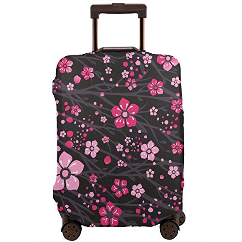 Fantastic Deal! Japan Cherry Branch With Blooming Flowers Travel Luggage Cover Suitcase Protector Wa...