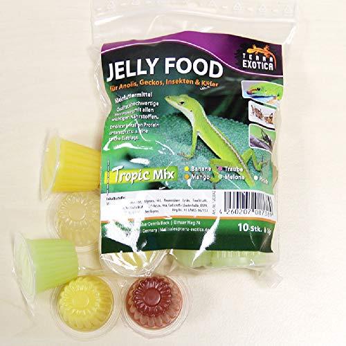 Terra Exotica Jelly Food - Tropic-Mix 10 Stück im Beutel, Fruitjelly, Beetlejelly - 10 x je 16g / Banane, Mango, Melone, Pfirsich und Traube je 2X