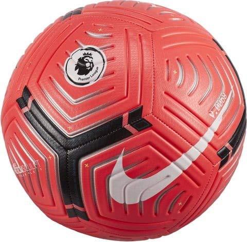 Nike Adultos Unisex Balón Premier League Strike, Laser Crimson/Metallic Silver/White, 5