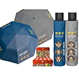 PERLETTI perletti7505454x 8cm Mini 3Secciones Impreso Emoji Paraguas a Prueba de...