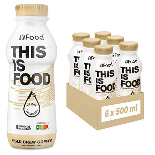 YFood Kaffee | Laktose- und glutenfreier Nahrungsersatz | 34g Protein, 26 Vitamine und Mineralstoffe | Leckere Astronautennahrung - 25{e1330345aa409446fa0e7431329fc3d7c78e1a4abe032e0fdc465de12ec1edc9} des Kalorienbedarfs | Trinkmahlzeit, 6 x 500 ml (1 kcal/ml)