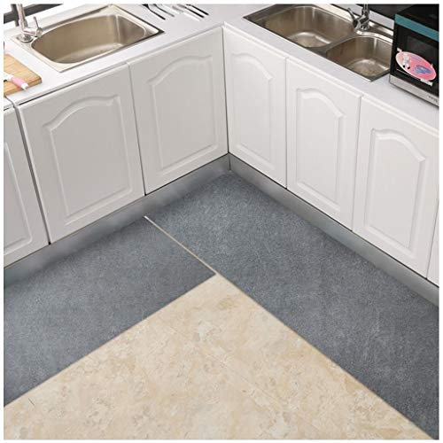 JCSW Tappeto Passatoia Cucina Antiscivolo Lavabile Lunghi, Tappeti Cucina Corridoio Moderni, 50x150cm, Grigio, XGJ126JGX (Color : 50x200cm, Size : 50x80cm)