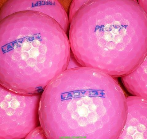 lbc-sports 50 Precept Lady IQ + plus golfballen roze *Premium AAAAAA*zonder logo's lakeballs