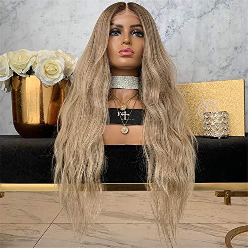 Cheveux longs et longs bouclés Perruque européenne et américaine fixée dans la femelle Cheveux longs et bouclés-20 pouces