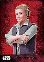 Leia Organa trading card Star Wars Force Awakens 2015 Topps #38 Green Edition