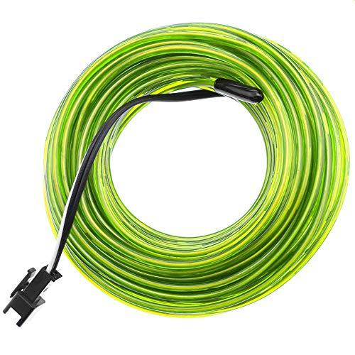 BeMatik - 2.3mm de câble électroluminescent vert tendre 25m de bobine