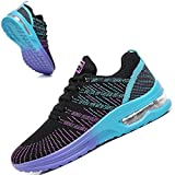TSIODFO Trail Running Shoes for Women Gym Workout Sneakers Athletic Tennis Walking Shoes Fashion Sneaker Black Purple Size 6