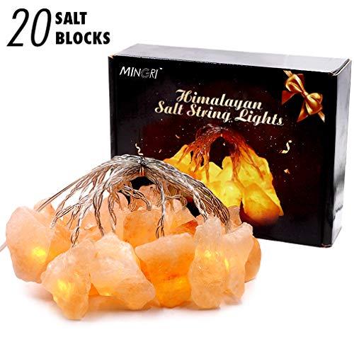 Punjab Pakistan Himalaya-Salzlichterketten, USB-Lichterketten, rosa Salzkristalllampe Schlafzimmer und Hauptdekorationen Nachtlichterketten-Geschenk für Kinder, Eltern, Freunde ( 20 lights)