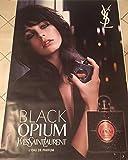 AFFICHE - Yves Saint-Laurent \ Black Opium - Parfum - Edie Campbell - Abribus - 120x175 cm - AFFICHE / POSTER
