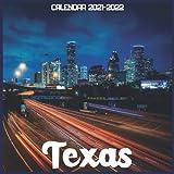 Texas Calendar 2021-2022: April 2021 Through December 2022 Square Photo Book Monthly Planner Texas small calendar