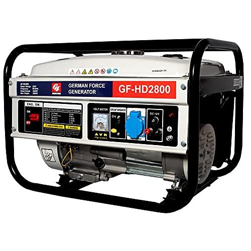 GENERADOR ELECTRICO GASOLINA 2800W POTENCIA 1 ENCHUFE MONOFASICO CORRIENTE 220V 9,5CV GARANTIA