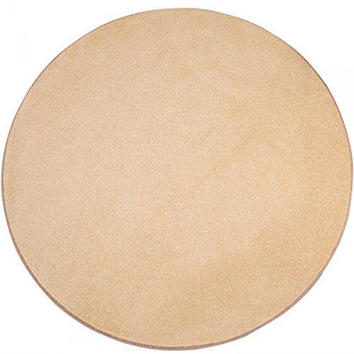 havatex Teppich Kräusel Velour Burbon rund - 16 Moderne sowie Klassische Farben | schadstoffgeprüft pflegeleicht & robust | ideal für Wohnzimmer, Farbe:Beige, Größe:180 cm rund