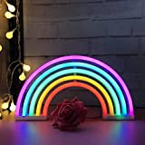Luces de neón arcoíris con luces de arco iris,decoración de la pared interior para la fiesta casera, aniversario, decoración del dormitorio Rainbow Neon luz