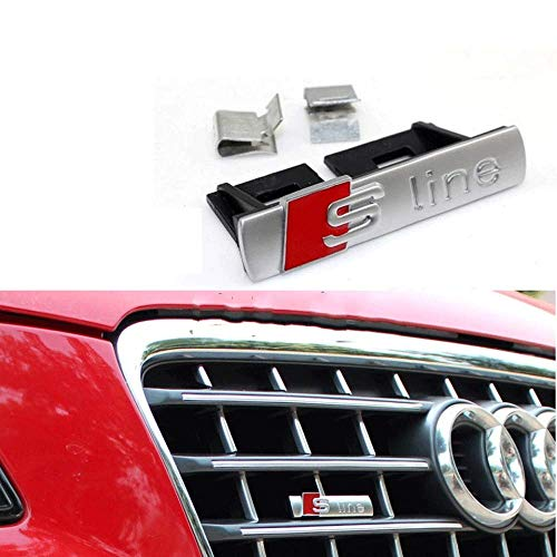 BOLLAER S lijn Car Front Grill Grille Badge Embleem Styling voor A1/A3/A4L/A5/Q5, Car Decoration S Line Car Grille Embleem