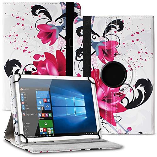 UC-Express Tablet Schutzhülle kompatibel für Asus ZenPad 10 Z301ML Z301MFL Z300M Hülle Tasche 360° Drehbar Kunstleder Standfunktion Cover Universal Hülle, Farben:Motiv 7