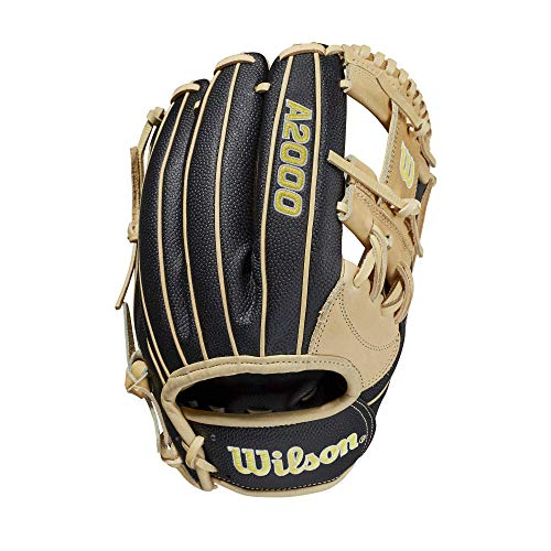 Wilson 2021 A2000 SuperSkin 1787 (Infield) - Right Hand Throw,11.75',Black, Yellow, WBW1000971175, Large