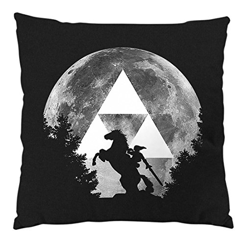 A.N.T. Another Nerd T-Shirt A.N.T. Link Epona Mond Kissen mit Füllung 28 x 28 cm Baumwollbezug SNES Zelda Ocarina