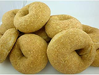 Low Carb Plain Bagels (12 Bagels) - Fresh Baked - LC Foods - All Natural - No Sugar - High Protein - Diabetic Friendly - Low Carb Bagels