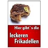 Frikadellen-Plakat für Fleischer und Metzger DIN A1,