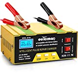 Outerman Car Battery Charger, 12V/24V 10A Automatic Smart Charger Monitor Charge Maintain Battery