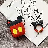 Airpods Schutzhülle Für Cartoon Silikon Wireless Bluetooth Headset Hülle Anti-Wrestling Ring Lanyard Universal 1-2 Generation Airpods Mickey