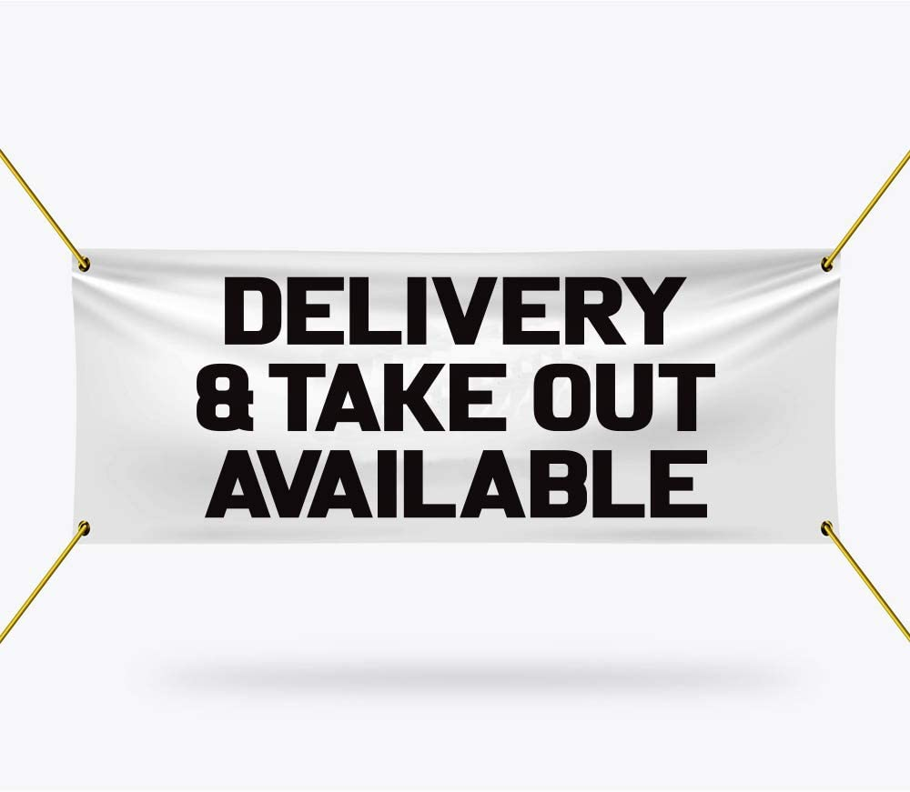 Delivery Take Max 50% OFF Out Available Banner Sign Duty Del Heavy ...