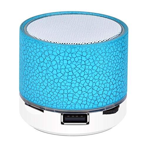 Bluetooth Color ligereza pequeña grieta inalámbrica de la Tarjeta de Sonido del subwoofer Audio del teléfono de Altavoz TF/U Disco/AUX,Azul