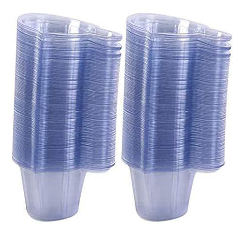 200 bags of plastic disposable urine collection cups, easy to collect urine samples for pregnancy and ovulation tests, laboratory container (40 ml/transparent)